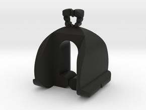 I♥U Shape 2 - MP in Black Natural Versatile Plastic
