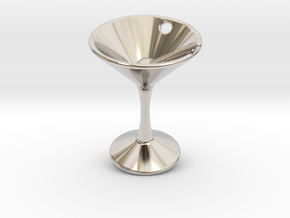 Martini in Rhodium Plated Brass