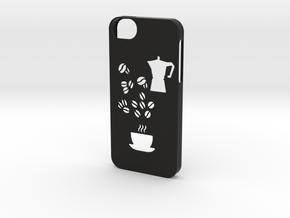 Iphone 5/5s coffee case in Black Natural Versatile Plastic