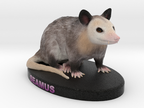 Custom Possum Figurine - Seamus in Full Color Sandstone