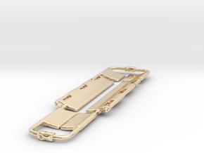 Scoop Stretcher Keychain in 14k Gold Plated Brass: 28mm