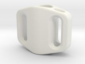 Pedal Bead Ver.1: Tritium (All Materials) in White Natural Versatile Plastic