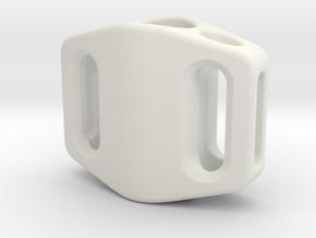 Pedal Bead Ver.2: Tritium (Stainless Steel) in White Natural Versatile Plastic