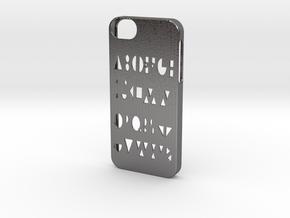 Iphone 5/5s geometry case in Polished Nickel Steel
