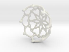 Tea Light Holder in White Natural Versatile Plastic