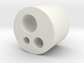 Borden Connector in White Natural Versatile Plastic