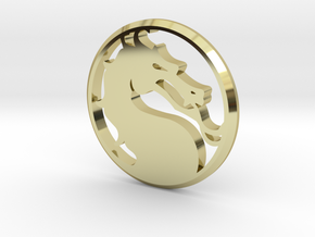 Mortal Kombat Medallion in 18k Gold Plated Brass