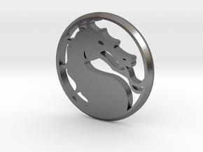 Mortal Kombat Medallion in Polished Nickel Steel