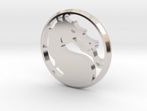 Mortal Kombat Medallion in Platinum