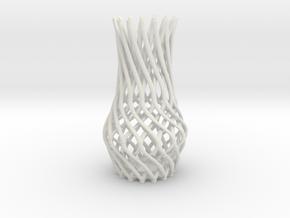 Flower Vase  in White Natural Versatile Plastic
