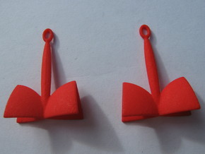 SOH Earrings 1 in Red Processed Versatile Plastic