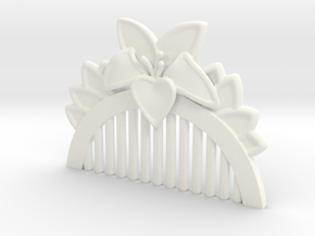 Mulan Comb in White Strong & Flexible Polished