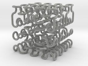 Hilbert/Moore cube ( 2 ) , thin in Metallic Plastic
