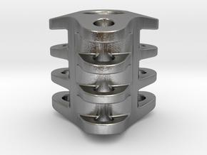 Triple Tritium Bead 3 (2x12mm Vials) in Natural Silver