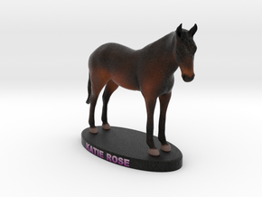 Custom Horse Figurine - Katie in Full Color Sandstone