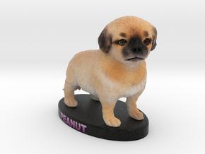 Custom Dog Figurine - Peanut in Full Color Sandstone