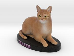 Custom Cat Figurine - Dexter in Full Color Sandstone