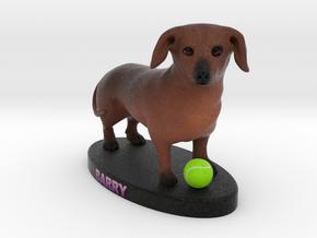 Custom Dog Figurine - Barry in Full Color Sandstone