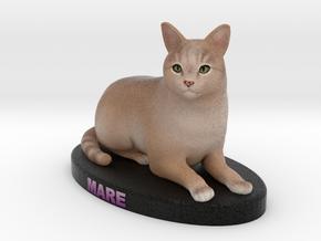 Custom Cat Figurine - Mare in Full Color Sandstone