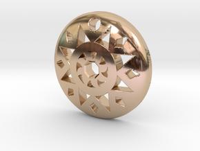Sun Pendant  in 14k Rose Gold Plated Brass