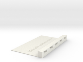 USB Device 3x5 Index Card Holder in White Strong & Flexible
