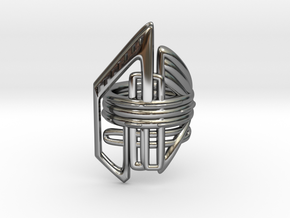 Balem's Ring2 - US-Size 10 (19.84 mm) in Fine Detail Polished Silver