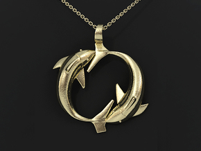 Pisces Zodiac Pendant in 14k Gold Plated