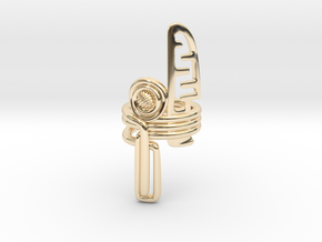 Balem's Ring3 - US-Size 13 (22.33 mm) in 14k Gold Plated Brass