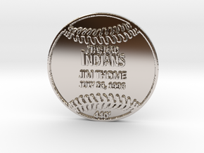 Jim Thome in Rhodium Plated Brass