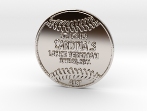Lance Berkman2 in Rhodium Plated Brass