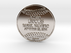 Rafael Palmeiro5 in Rhodium Plated Brass