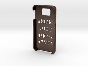 Samsung Galaxy Alpha Geometry case in Polished Bronze Steel