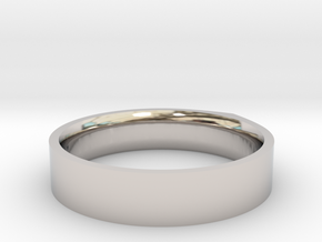 """LINE""_Women ring in Rhodium Plated Brass"