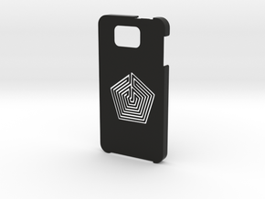 Samsung Galaxy Alpha Labyrinth case in Black Natural Versatile Plastic