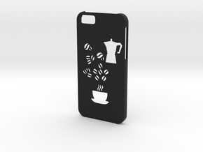 Iphone 6 Coffee case in Black Natural Versatile Plastic
