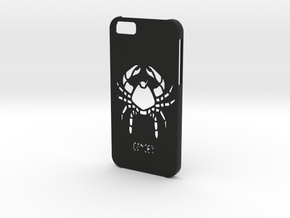 Iphone 6 Cancer case in Black Natural Versatile Plastic