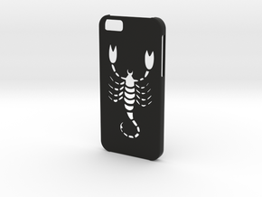 Iphone 6 Scorpio case in Black Natural Versatile Plastic