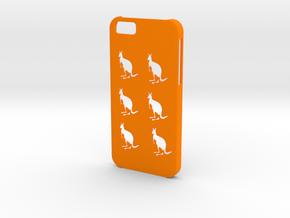 Iphone 6 Kangaroos case in Orange Processed Versatile Plastic
