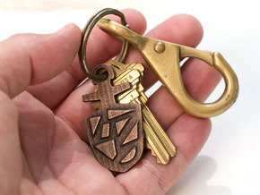 Doctor Who TARDIS Key Pendant Necklace/Key Charm in Polished Bronze Steel