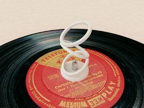 45 Rpm Adaptor optical illusion for record players in White Natural Versatile Plastic