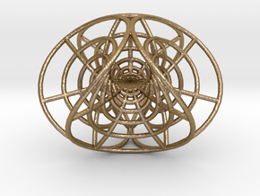 "Enneper's Mesh, 1/8"" diameter wires in Polished Gold Steel"