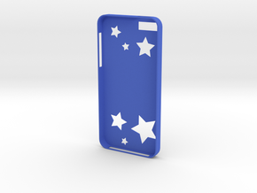 Stars iPhone Case in Blue Strong & Flexible Polished