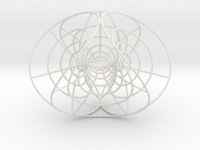 Enneper's Mesh, large, 1.5 mm wires in White Strong & Flexible