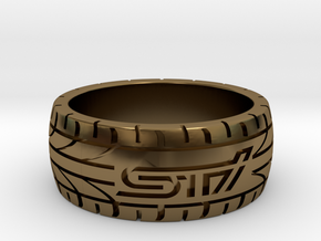 Subaru STI ring - 17 mm (US size 6 1/2) in Polished Bronze