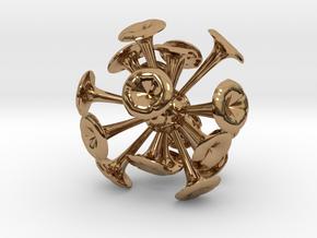 Discosphaera Desk Sculpture in Polished Brass