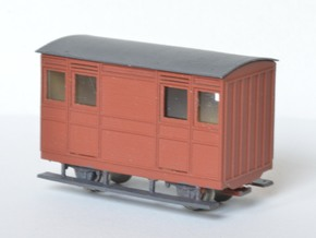 FR Ashbury 4w Carriage THIRD in Smooth Fine Detail Plastic