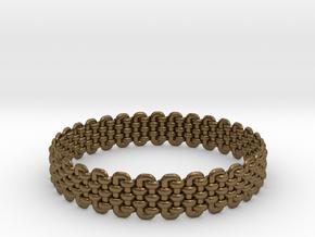 Wicker Pattern Bracelet Size 2 in Natural Bronze