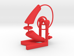 Desk Vine Buddy in Red Processed Versatile Plastic