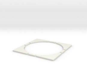 T-45-wagon-turntable-200d-200-corners-flat-1a in White Natural Versatile Plastic
