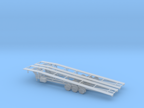 N Gooseneck 3 Car Trailer 2 Pack in Frosted Ultra Detail